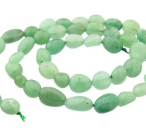 green aventurine pebble gemstone beads