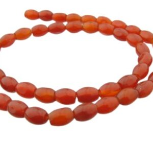carnelian rice gemstone beads