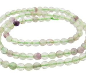 faceted fluorite round beads 4mm
