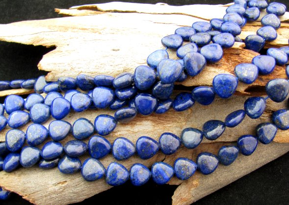 lapis lazuli heart beads