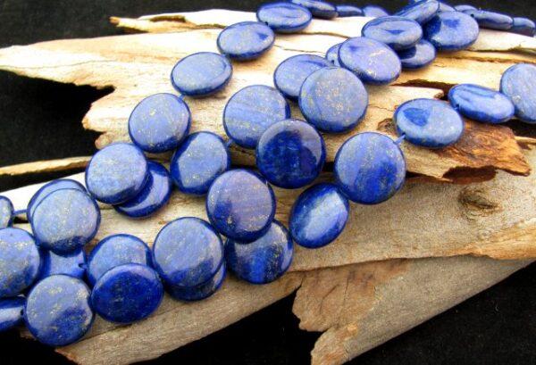 lapis lazuli large disc beads