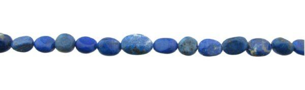 lapis lazuli gemstone beads pebble shape