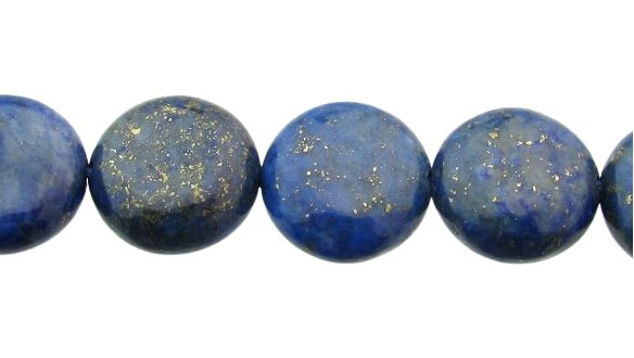 lapis lazuli small disc gemstone beads