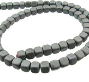 matte hematite cube gemstone beads