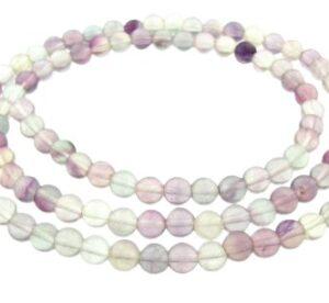 fluorite gemstone round beads 4mm