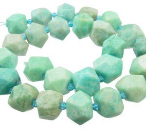 amazonite faceted nugget gemstone beads