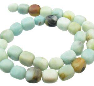 amazonite nugget gemstone beads