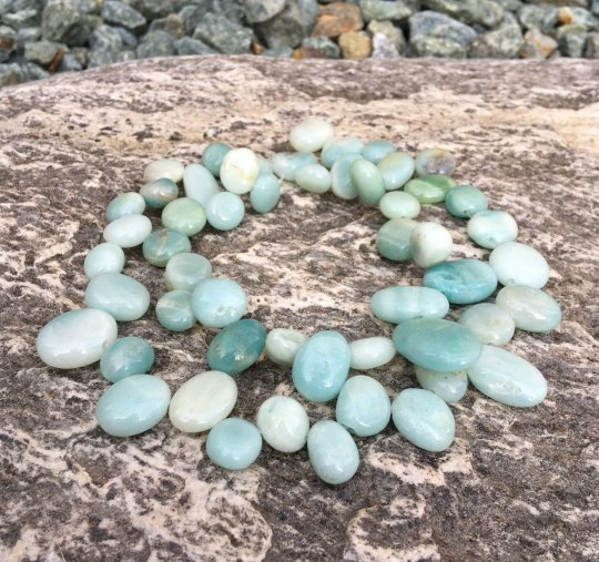 amazonite top drilled nugget beads