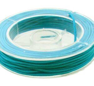 aqua blue green nylon cord for bead knotting