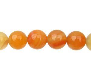 carnelian round 14mm beads gemstones