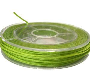 lime green nylon 0.8mm beading cord