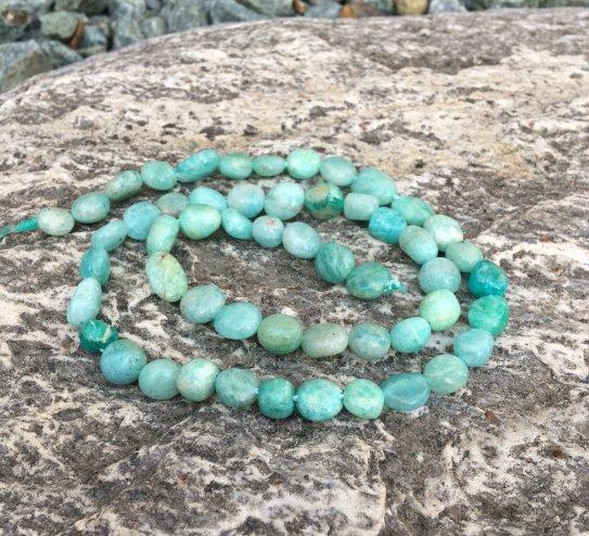 russian amazonite pebble gemstone beads