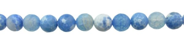 blue agate faceted beads