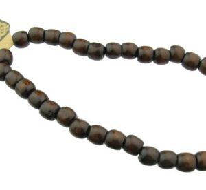 dark brown barrel wood beads