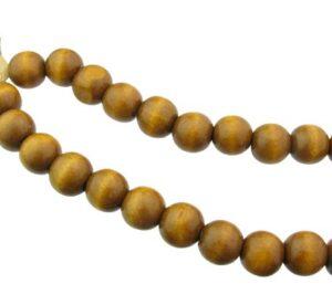 large round wood beads