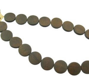 coin shaped wood beads
