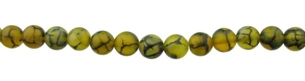 yellow agate 8mm round beads