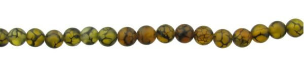 yellow agate dragon vein gemstone round beads